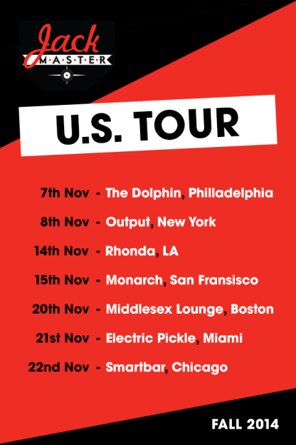 Jackmaster Fall US Tour 2014